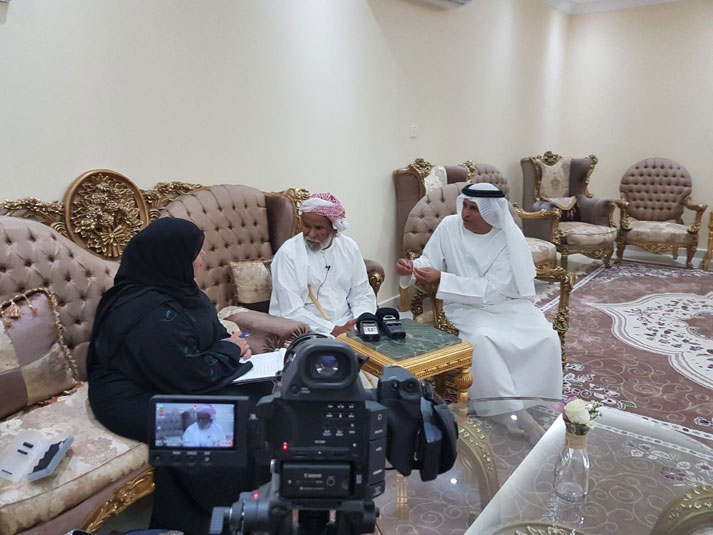 "National Archives Continues Oral History Interviews for its Project: ""Grazing in the Emirate of Abu Dhabi""."