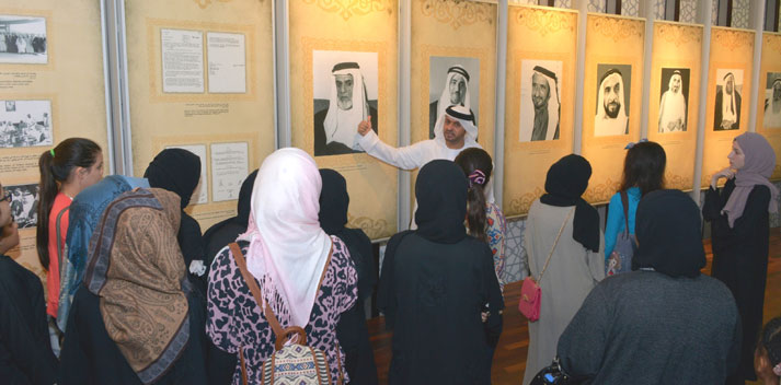The National Archives Receives Students from Ras Al Khaimah Girls Center on a Scientific Journey
