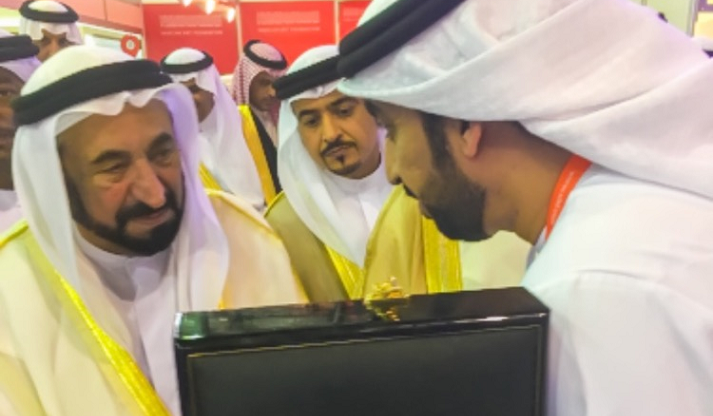 Sultan Al Qasimi Receives the Latest of the National Archives' Publications During the Inauguration of the Sharjah International Book Fair